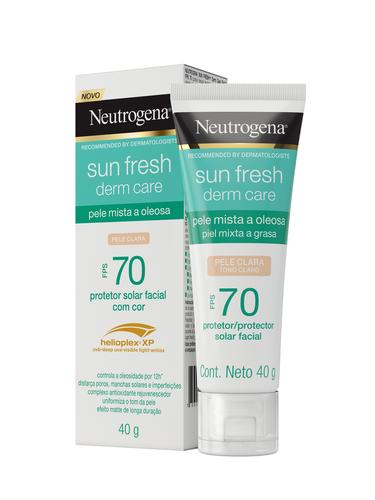 NEUTROGENA SUN FRESH® Derm Care FPS70 com cor pele clara