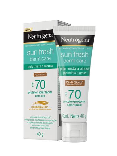 NEUTROGENA SUN FRESH® Derm Care FPS70 com cor pele negra