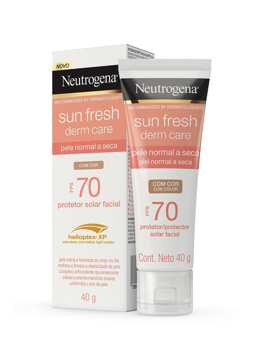 NEUTROGENA SUN FRESH® Dry Skin Com Cor FPS 70