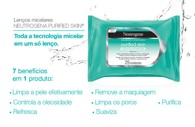 Lenços Micelares Neutrogena Purified Skin