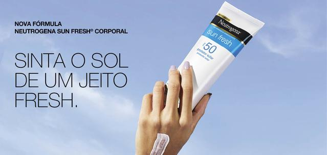 Nova fórmula Neutrogena Sun Fresh