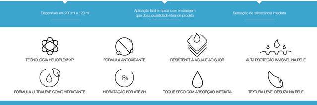 Benefícios produtos Neutrogena Sun Fresh Corporal