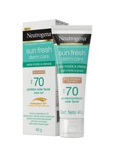 NEUTROGENA SUN FRESH® Derm Care FPS70 com cor pele morena