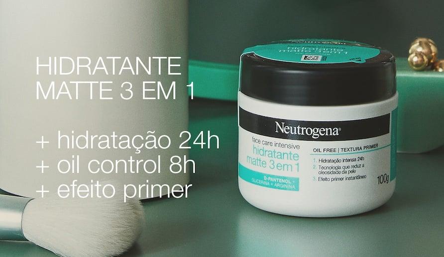 Hidratante Matte 3 em 1 +hidratação 24h + oil control 8h +efeito primer